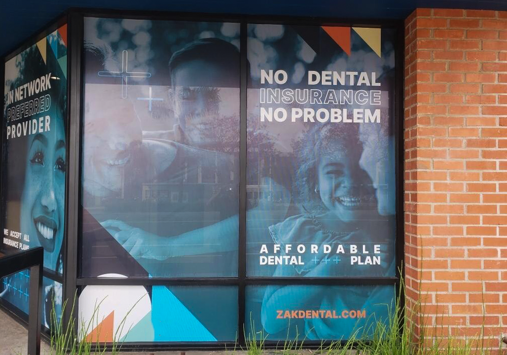 Zak Dental Ventura Window Clings